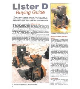 Lister D-type restoration Voorkant
