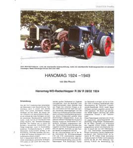Hanomag, Profile 1 1924-1949 Voorkant
