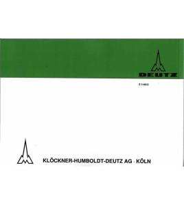 Ersatzteilliste Deutz-Dieselschlepper D4505