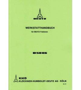 Werkstatthandbuch für Deutz-Traktoren D5006 Voorkant