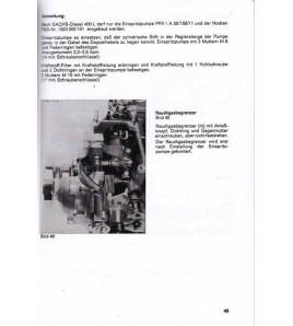 Reparaturanweisung und Ersatzteilliste Sachs Diesel 400
