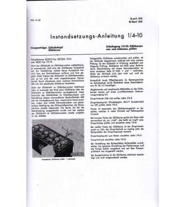 Instandsetzungsanleitung Hanomag-Radschlepper Granit500, Brillant600