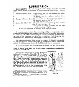 Lister Instruction and Spare Parts Book