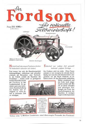 Fordson 1 - Traktoren von Fordson & Ford 1917 - 1964 Voorkant