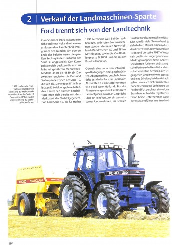 Ford Traktoren Serie 10 bis New Holland 1981-1995 Voorkant