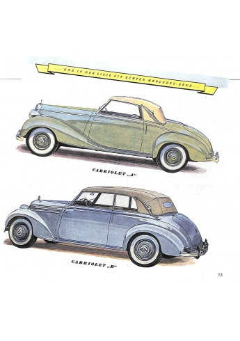 Mercedes Benz, Roadster und Cabriolets 1949-1989