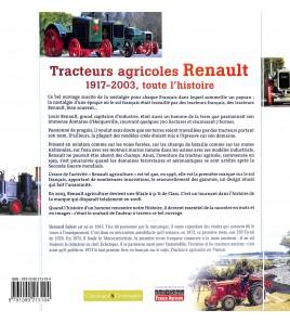 Tracteurs agricoles Renault 1917 - 2003 toute l'histoire Voorkant