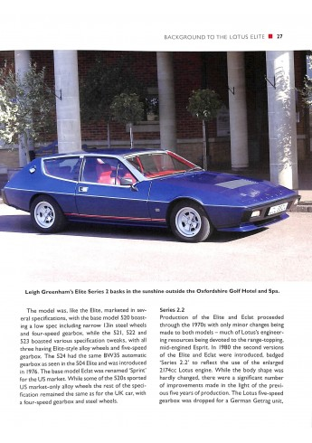 Lotus Elite, Eclat and Excel - An Enthusiast's Guide