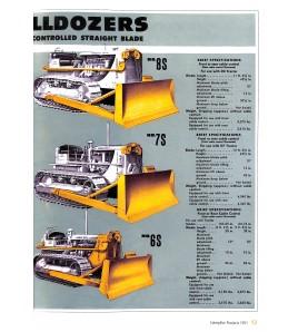 Caterpillar Bulldozer-Prospekte Voorkant