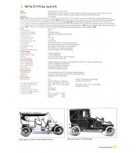 Opel Fahrzeug-Chronik Band 1 1899-1951